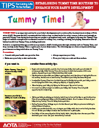 Tummy time tip sheet thumbnail
