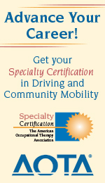 Driving and Community Mobiltity Specialty Certification