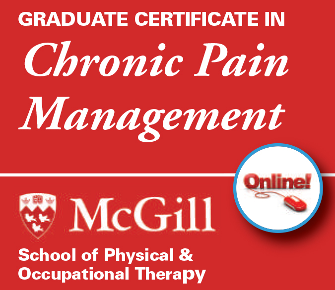 Graduate Certificate in Chronic Pain Management online from McGill School of Physical and Occupational Therapy