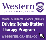 Western University Canada Master of Clinical Science Driving Rehabilitation Therapy Program western n u dot c a slash f h s slash o t