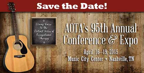 Save the Date for Annual Conference April 16-19, 2015 in Nashville, TN.