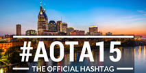 #AOTA15 is the official conference hashtag