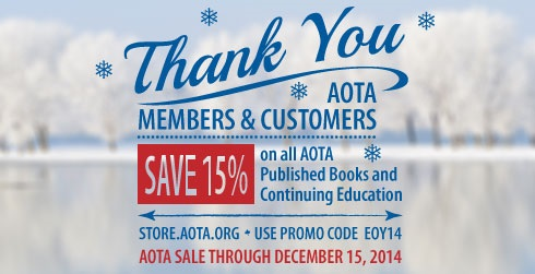 Save 15% on books and CE thru December 15, 2014.