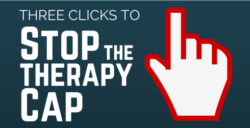 Three clicks to stop the therapy cap