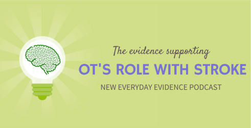 The evidence supporting OT's role with stroke