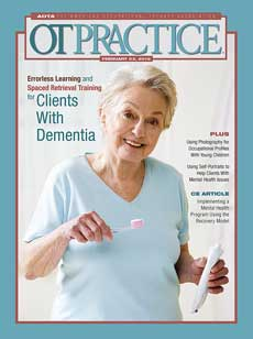 Cover of OT Practice: Clients with Dementia