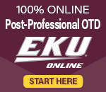 One hundred percent online post professional O T D through E K U online period click here for more details