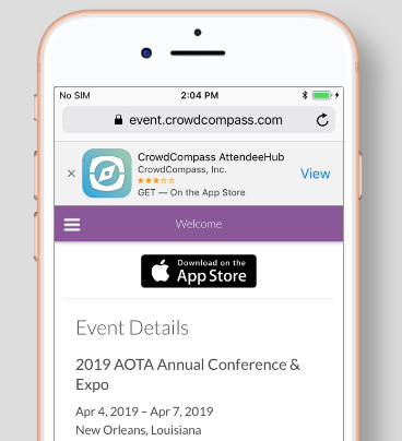 Mobile App: Build Your Schedule - AOTA